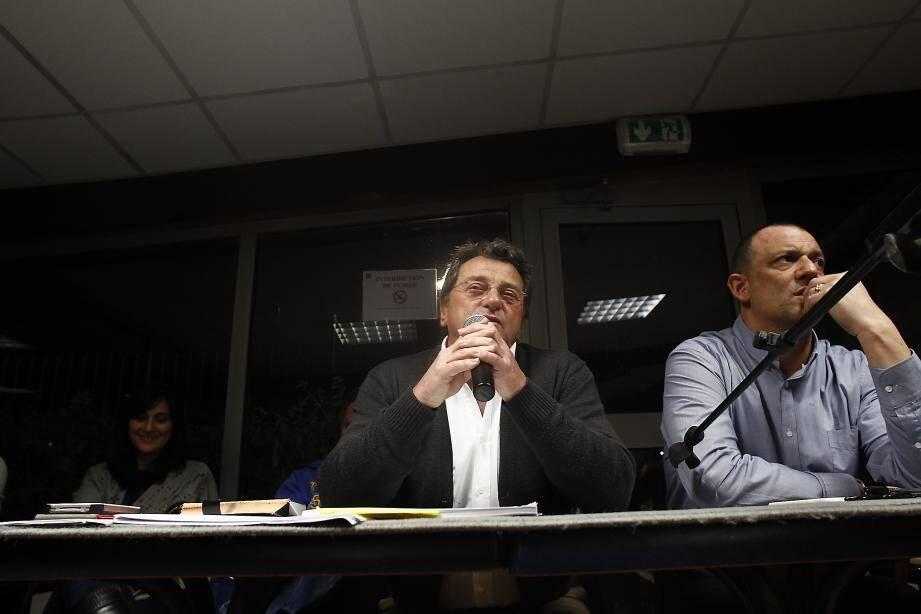 Paul Sartirioli (à gauche) et Fernand Iberti, « l'orateur » et « le turbulent » de l'Adil.