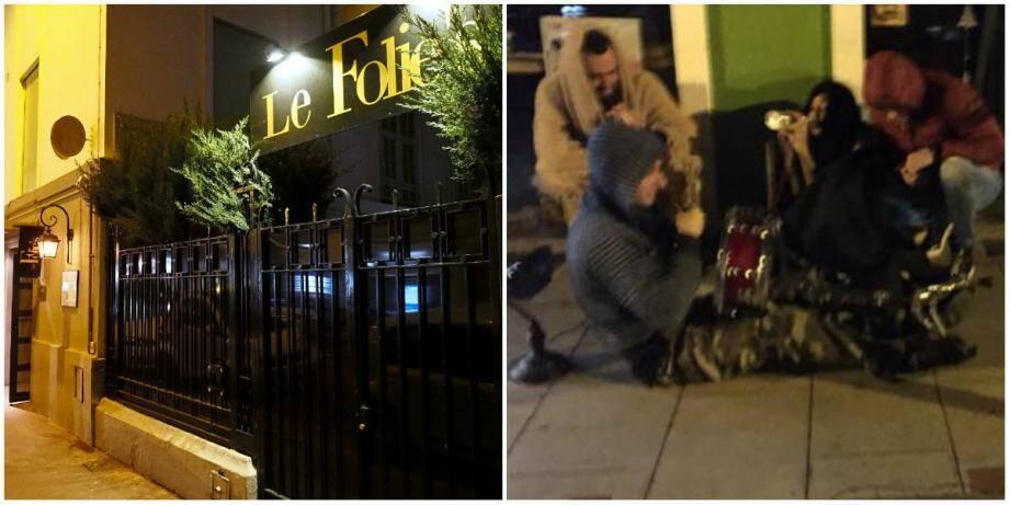 Le Folie's, rue du Congrès, doit désormais fermer à minuit et demi. Les riverains se plaignent de bruits venant des clients, mais la patronne s'insurge, ce sont des SDF qui mettent de la musique dans la rue et jouent du tambour.