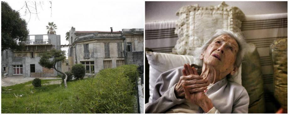 La villa Biasini, que Jeanne Robert (à droite) et petite fille du bâtisseur, a quittée en 2009, est bien loin de son lustre d'antan.