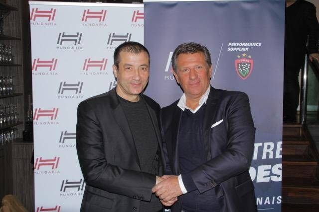 Mourad Boudjellal et Pierre Arcens (président d'Hungaria) ont présenté leur nouveau partenariat hier à Paris.