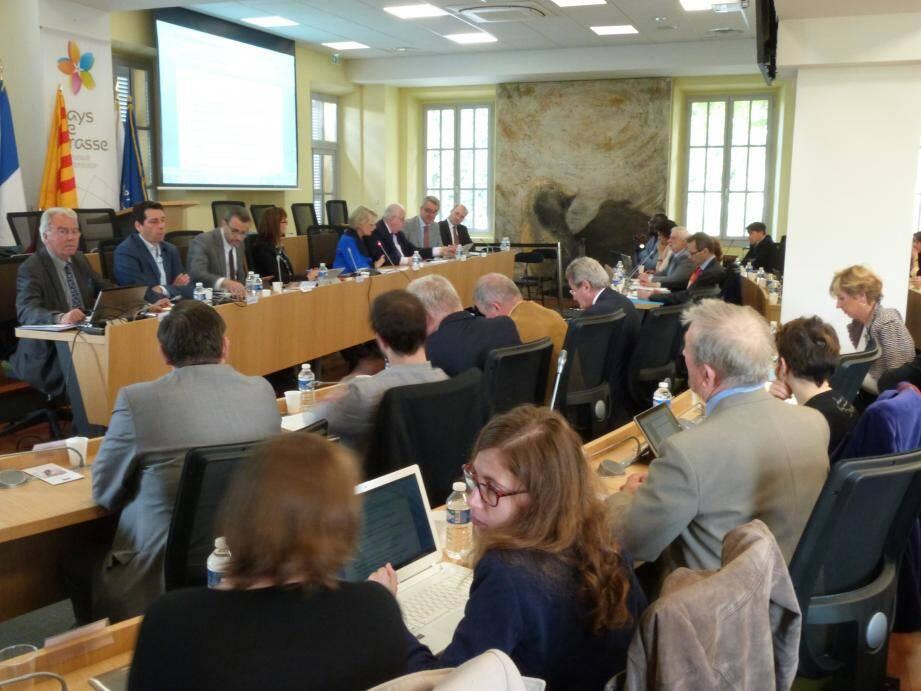 Au micro, en présence des présidents de Prodarom et de l'IFRA, la députée européenne Françoise Grossetête.