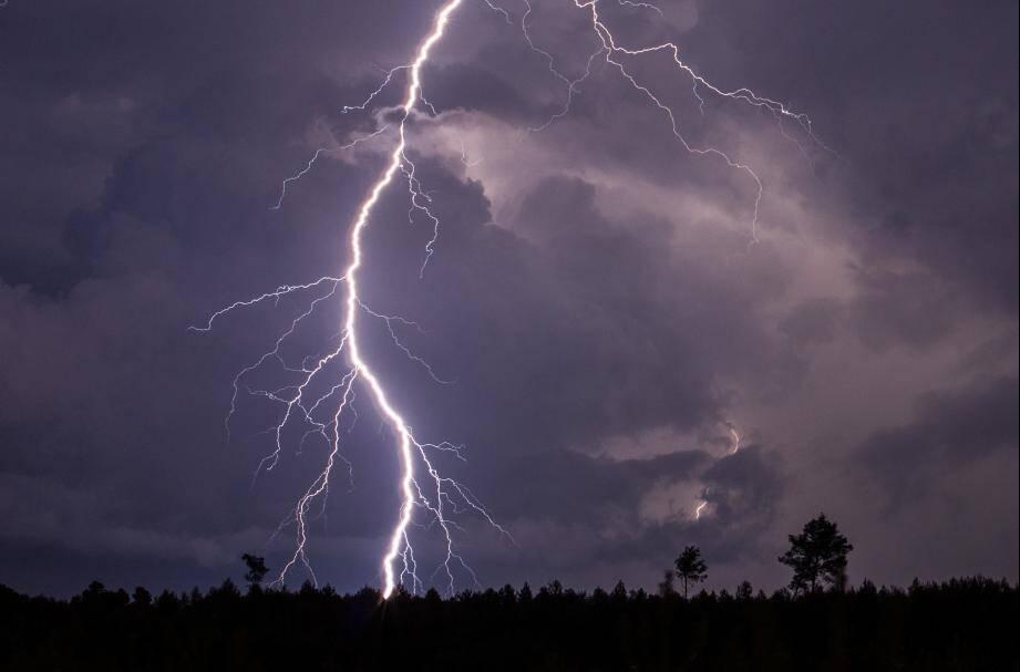 Un orage dans le secteur de Hyères.