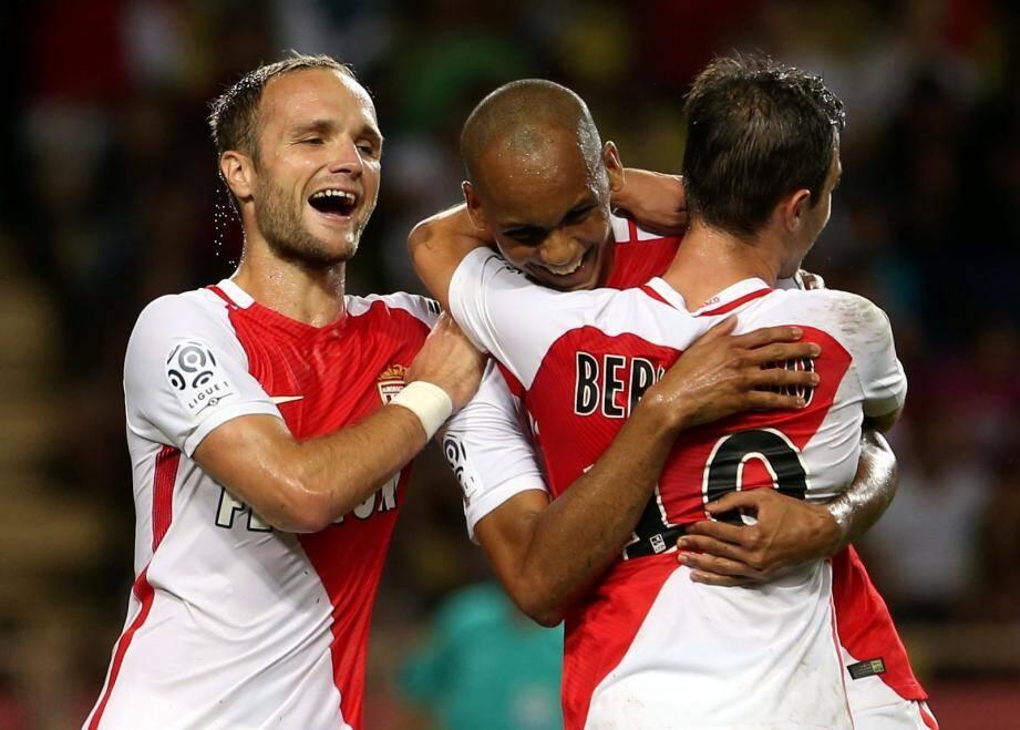 Germain et Falcao n'ont pas encore ouvert leur compteur en championnat à l'inverse de Fabinho et Bernardo Silva. Le collectif avant tout.