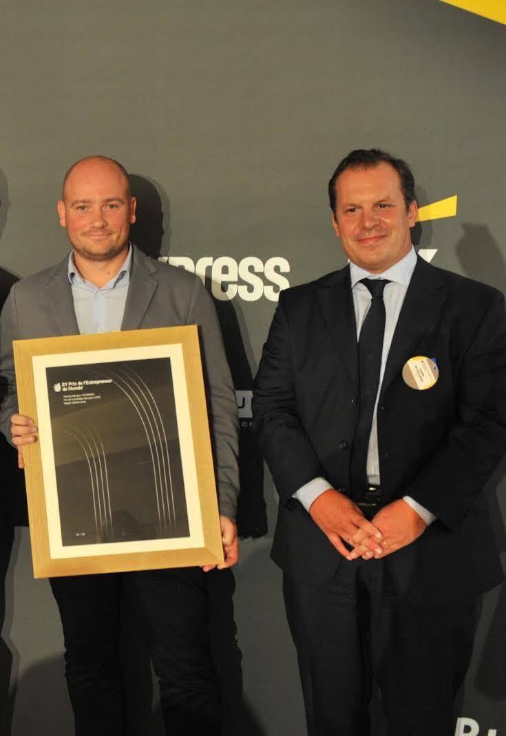 David Houssemand d'Inventy a reçu le Prix Born Global et Thomas Menguy, cofondateur de Wildmoka, celui de la Stratégie disruptive. (D.R.)