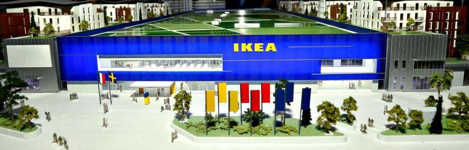 La maquette du projet d'implantation d'Ikea dans la plaine du Var.