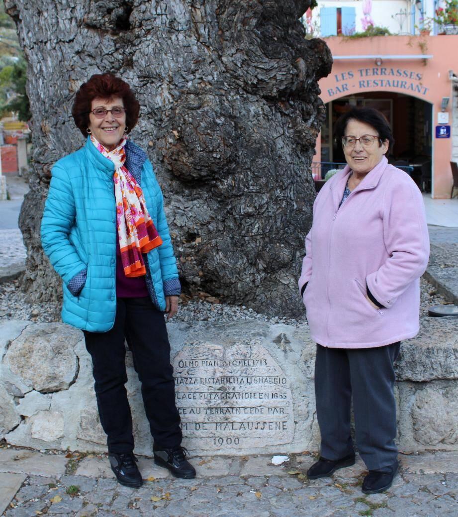 Andrée (à gauche) et Francette Pastor, les deux présidentes de l'Amigansa au début de l'aventure. (DR)