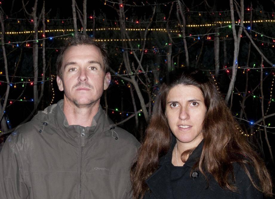 Vanessa et Yann Hamila dans leur propriété.