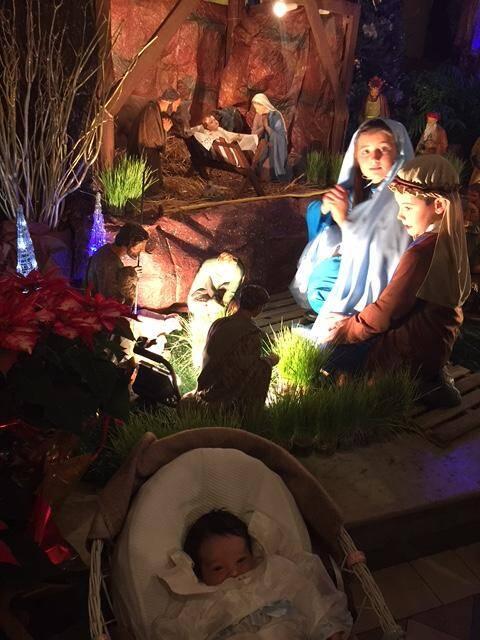Le petit Sacha Loffredo a joué le rôle de Jésus dans la crèche vivante de l'église du Sacré-cœur.(DR)