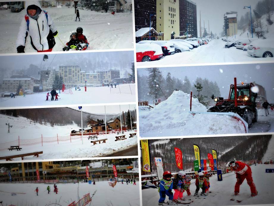 Auron, Valberg, Isola et même à La Colmiane, la neige n'a oublié personne pour ce début de vacances de Noël