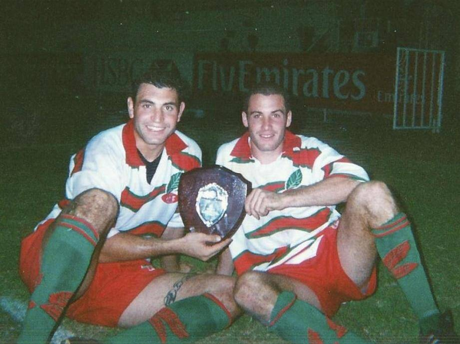 Thomas Garcia (à droite) et son frère lors du sacre en Coupe d'Afrique.