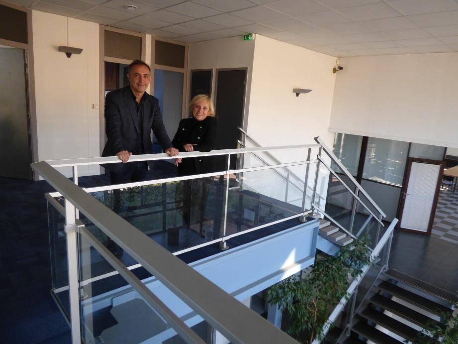 Fabrice Moyzan, coprésident avec Eric Leandri de la French Tech Côte d'Azur, et Valérie Groues qui devrait être nommée directrice opérationnelle de la FTCA.