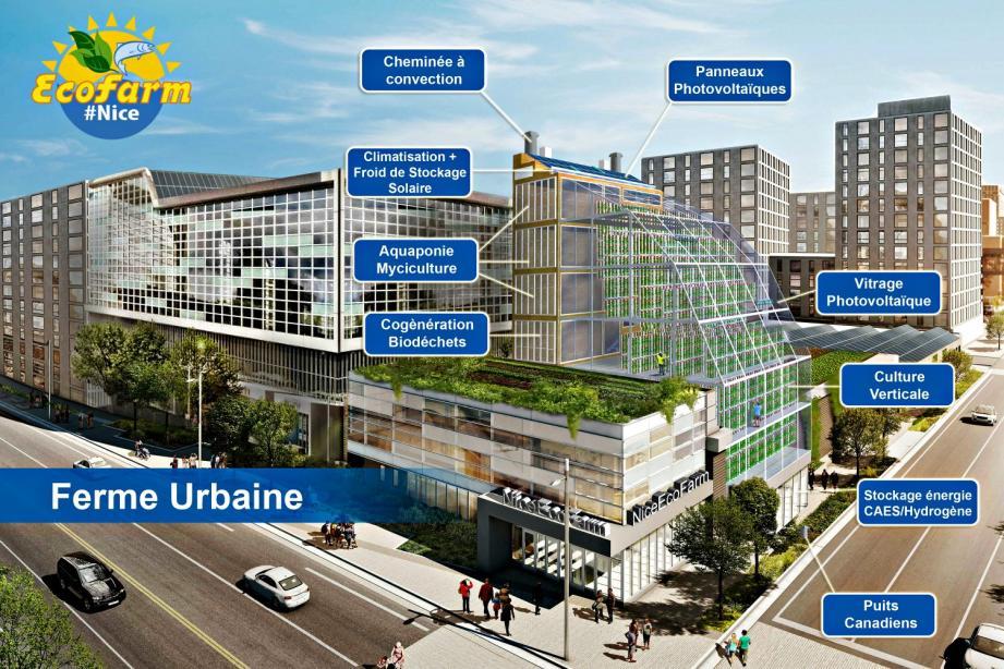 La ferme pilote urbaine imaginée par Yann Rozier.