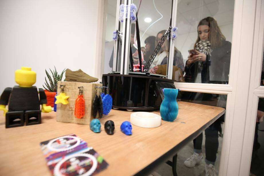L'atelier La Petite Fabrique a élaboré une démonstration d'impression numérique.