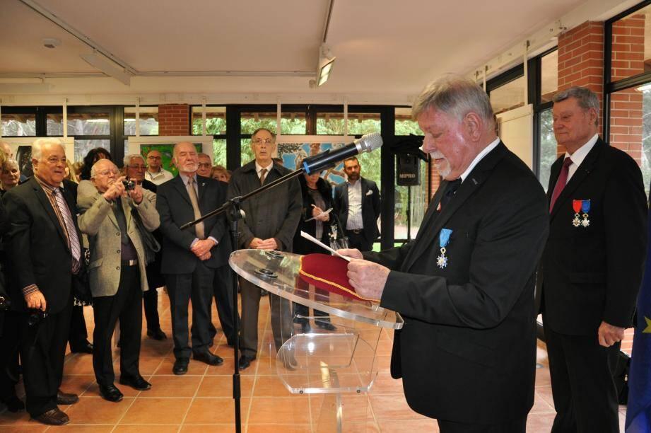 Gérard Allibert a remercié tous les protagonistes qui ont œuvré pour l'attribution de cette récompense.