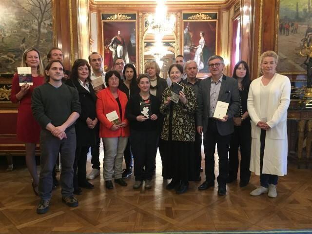 Le Jury (presque au complet) du prix Nice Baie des Anges, hier, villa Masséna