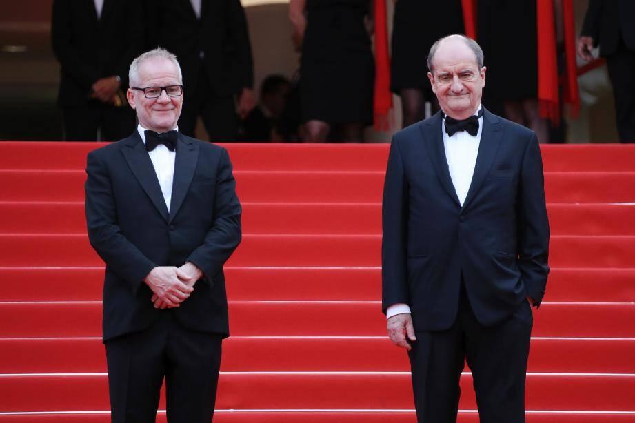 Thierry Frémaux, délégué général, et Pierre Lescure, président du Festival de Cannes.