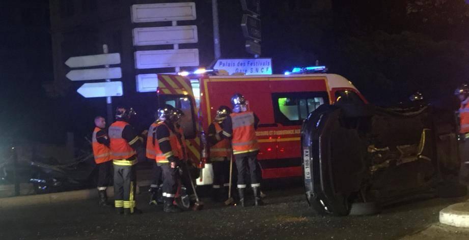 Les pompiers étaient sur place pour secourir les victimes.