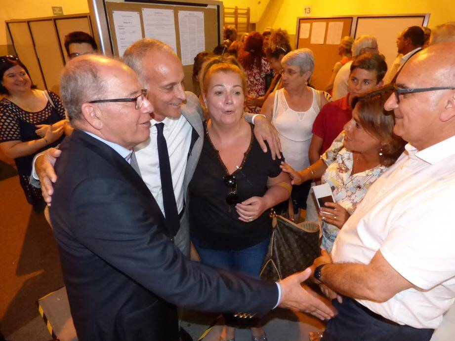 Loïc Dombreval et les maires de Saint-Jeannet, Gattières et Carros. Jérôme Cochet s'est remis de sa défaite avec ses militants.