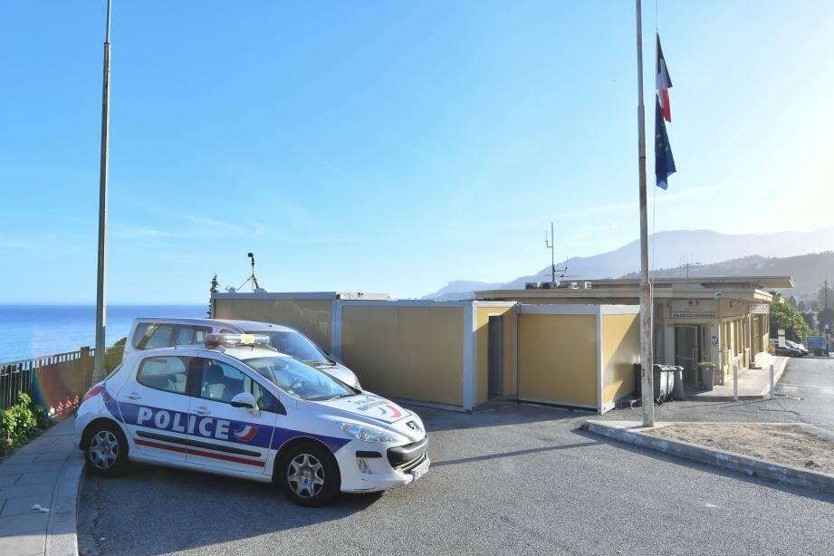 Le poste frontière France-Italie.