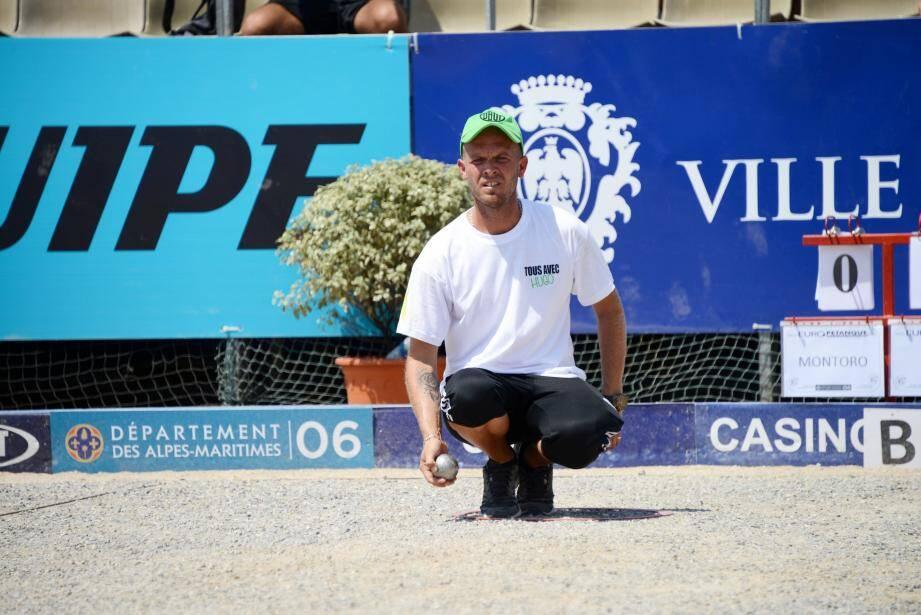Champion de France triplettes, le Niçois Ludovic Montoro a été battu en huitièmes de finale