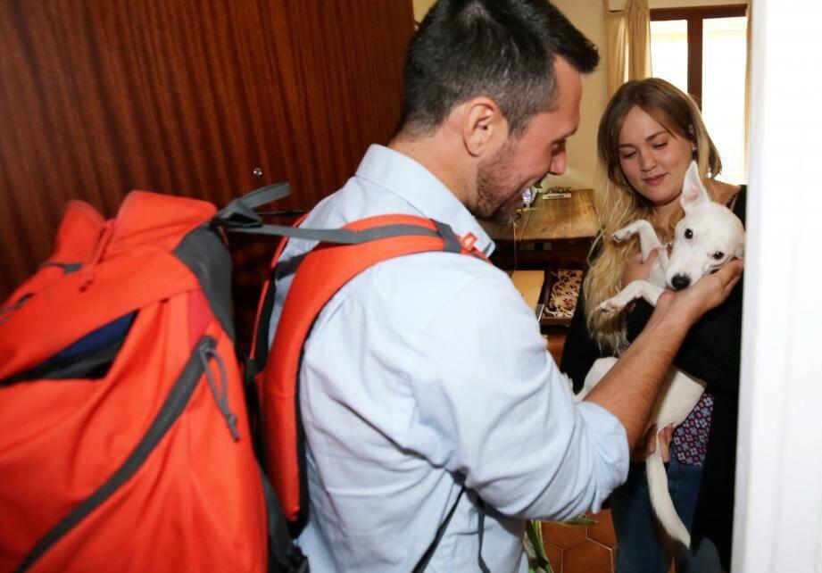 En fin de matinée, Florian se présente chez Amélie. Jelly, un Jack Russell terrier femelle de 3 ans, l'a senti arriver. À moins qu'elle ait ressenti le stress de sa maîtresse. Mais durant le rappel de vaccin, la petite chienne s'est montrée très courageuse !