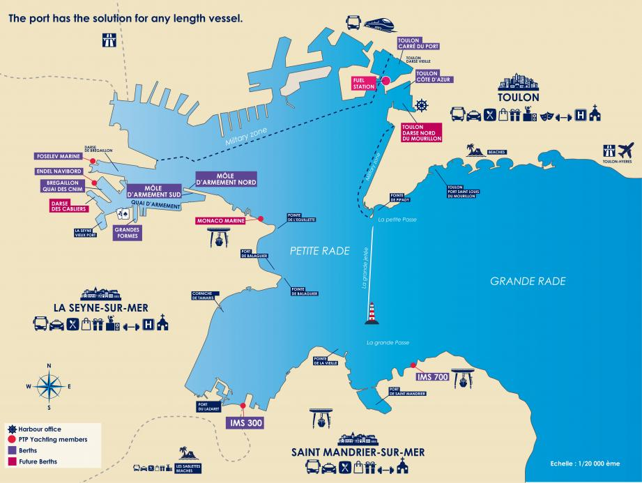 Le site de Monaco Marine, installé à la Seyne-sur-mer sera au cœur de l'activité de la rade.