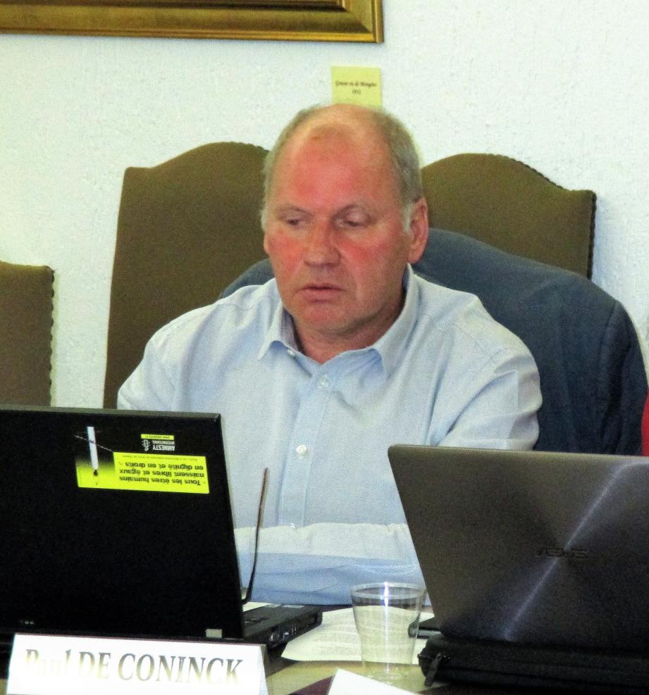 Paul de Coninck a challengé les choix du maire sur plusieurs délibérations.