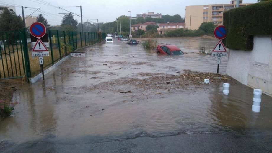 Des fortes pluies avaient touché Cagnes-sur-Mer en septembre.
