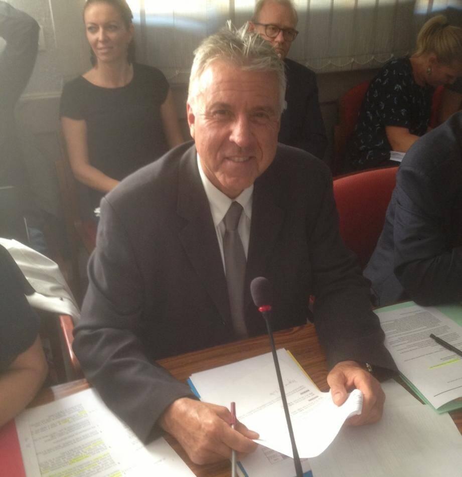 Roland Constant, nouveau premier adjoint de Cagnes-sur-Mer.