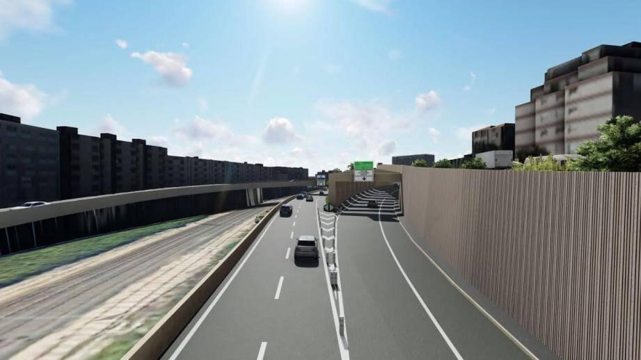 Le projet de raccordement de la voie Mathis à l'A8.