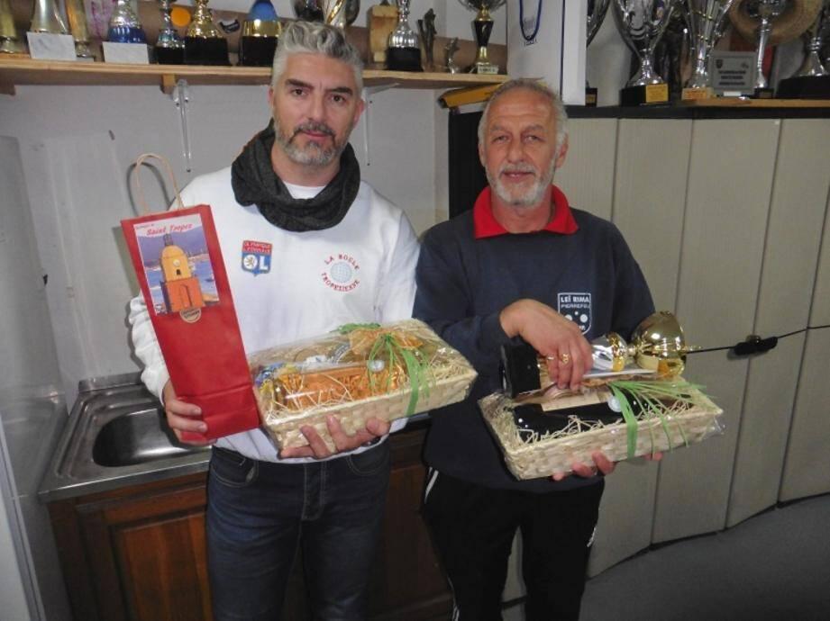 Maurice Alfieri (à droite) est devenu champion du Var en battant Cyril Casanova.