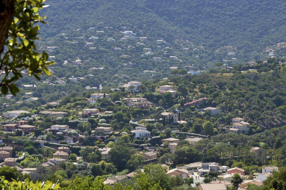 Vue aérienne de Cavalaire.