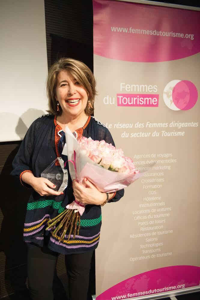 « Je suis très honorée que l'association Femmes du Tourisme ait eu la gentillesse de m'adresser ce prix », confie Agnès Webster.(DR)