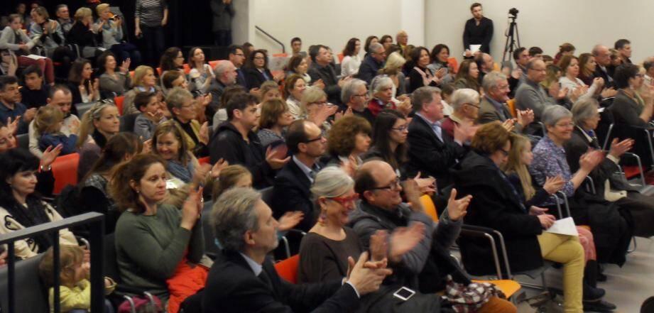 Le public, conquis d'avance, a témoigné de son enthousiasme.