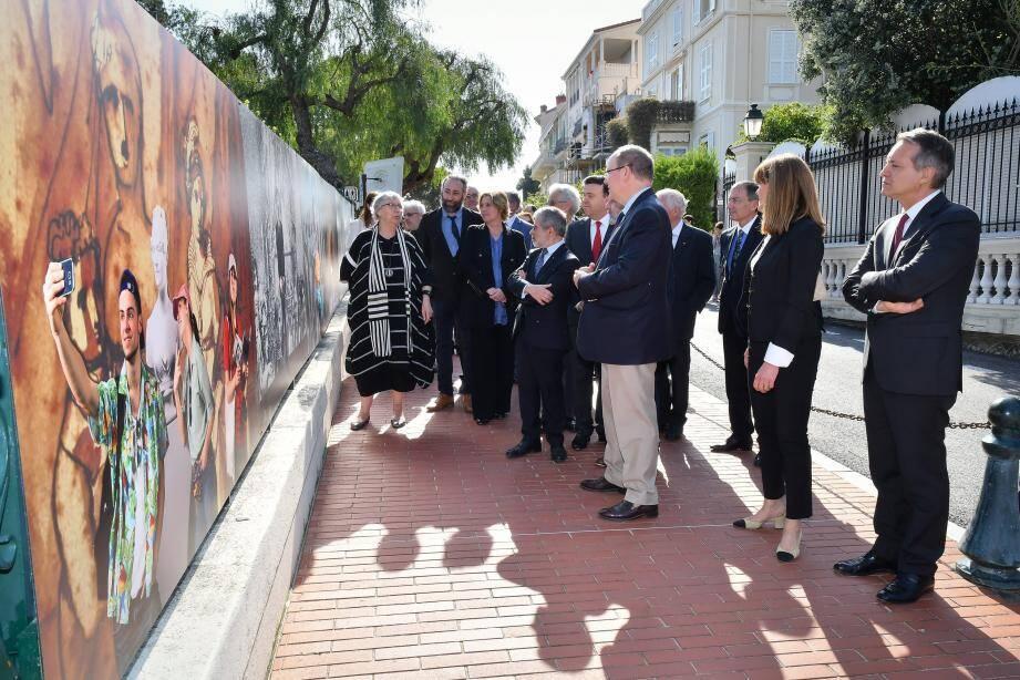 La célébration s'est déroulée en présence du prince Albert II et des étudiants de l'école d'art de Monaco qui porte le nom de l'artiste.