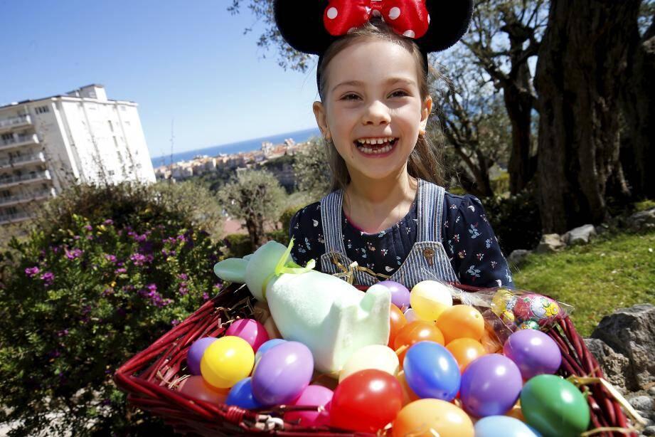 Chasse aux oeufs à Monaco au parc princesse Antoinette