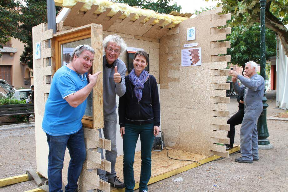 Denis Mary, Dominique Tallarida, et la maire de Sospel, Marie-Christine Thouret.