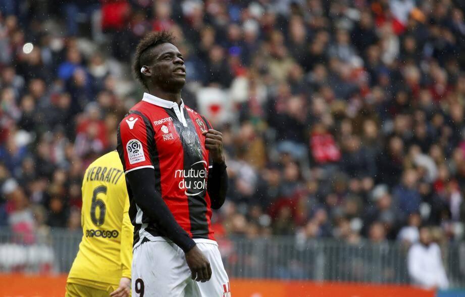 Absent à Nantes, Mario Balotelli va jouer son premier match de la saison à l'Allianz Riviera, contre le Paris Saint-Germain.