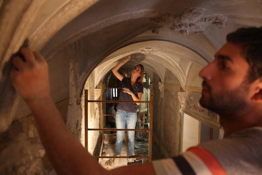 Le chantier de rénovation de la maison du patrimoine à Ollioules a débuté au printemps 2017.