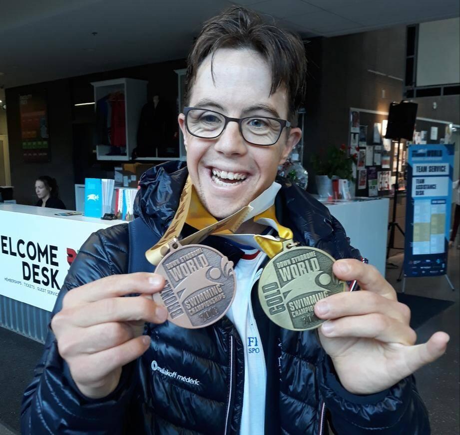 Rafaël Dutay a pulvérisé son record sur 50m brasse.