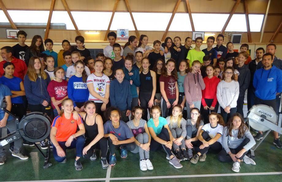 Entraînement dans les conditions du record, lundi, à La Coudoulière, sous l'égide du comité du Var, en partenariat avec l'Aviron club de Six-Fours.