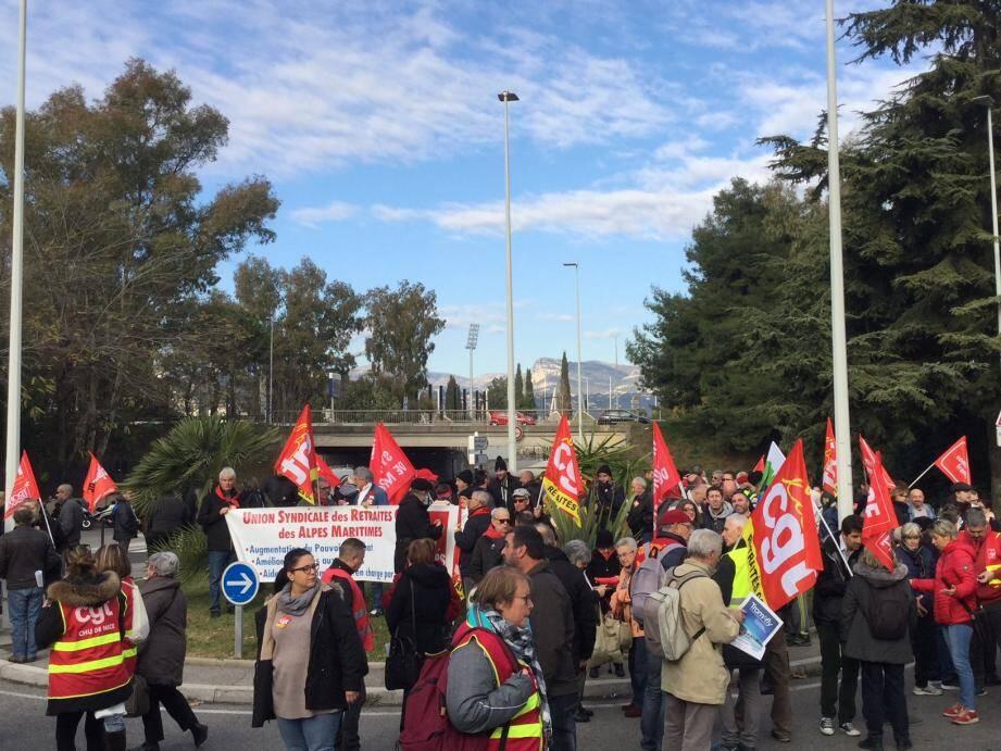 La CGT mobilise à Nice.