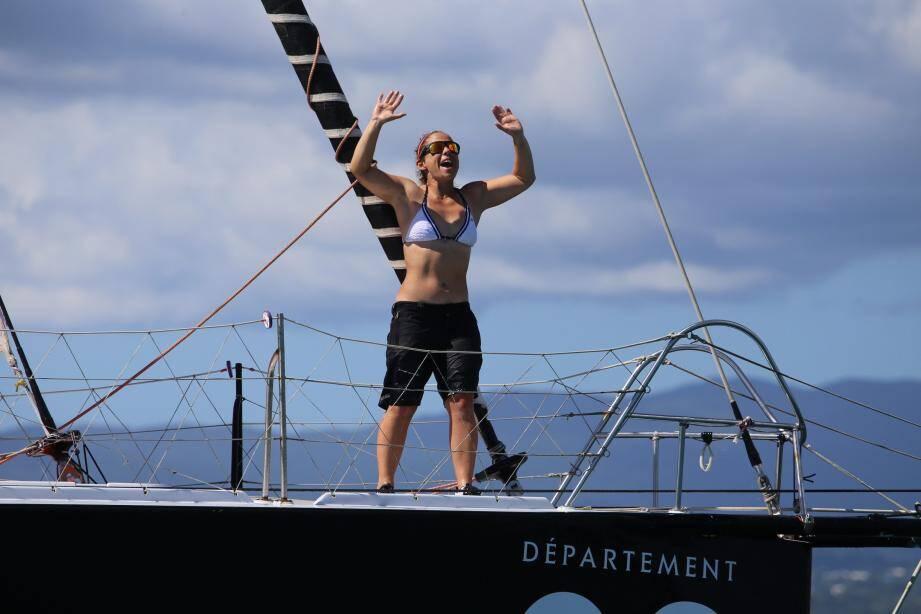 Alexia a terminé première femme de la Route du rhum 2018.  (Photos D.R. et J-M.P.
