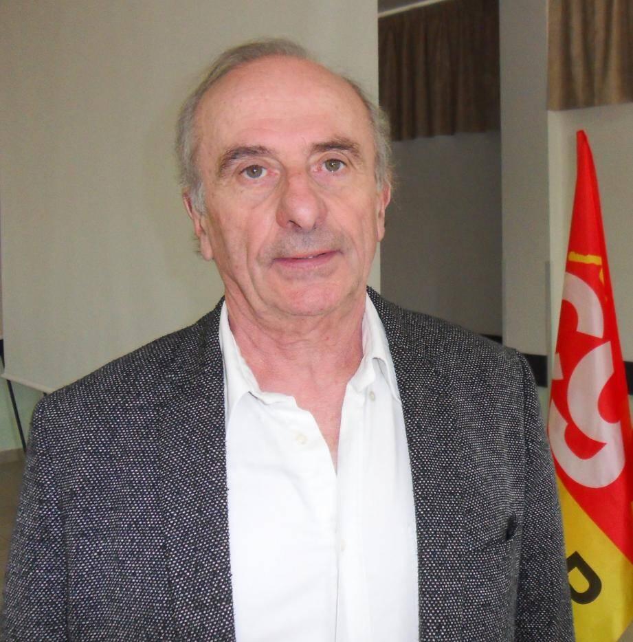 Michel Camatte, secrétaire général du syndicat CGT des retraités du ministère de la Défense.
