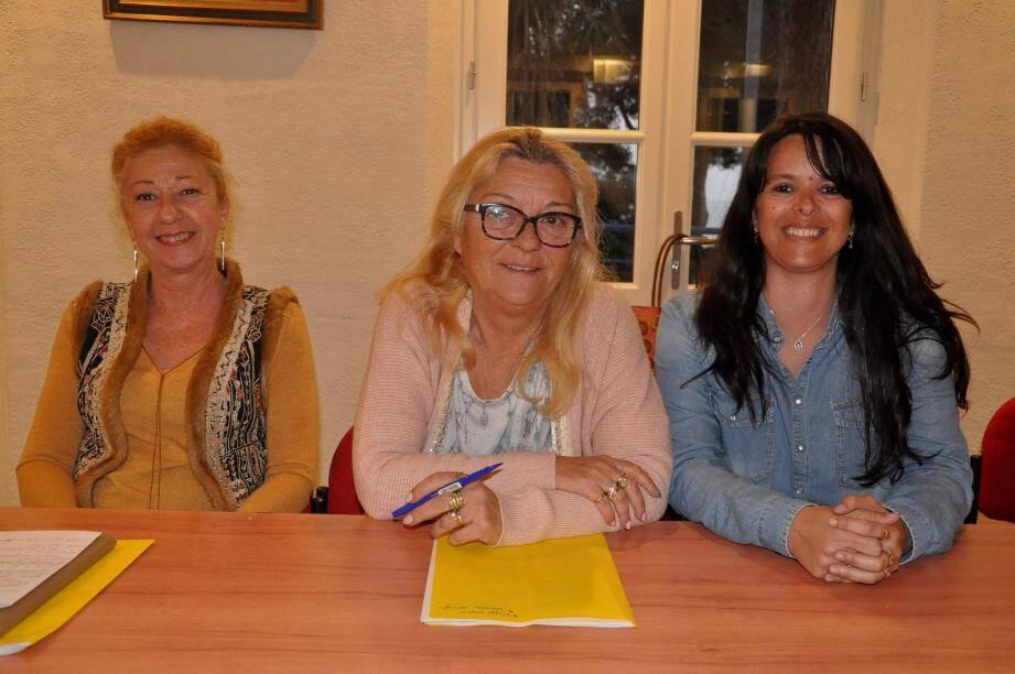 Christine Argense, présidente, Valérie Chambelland, trésorière et Jessica Ajello, secrétaire (de g. à d.), ont gardé les festivités 2018 qui ont remporté un franc succès auprès du public.