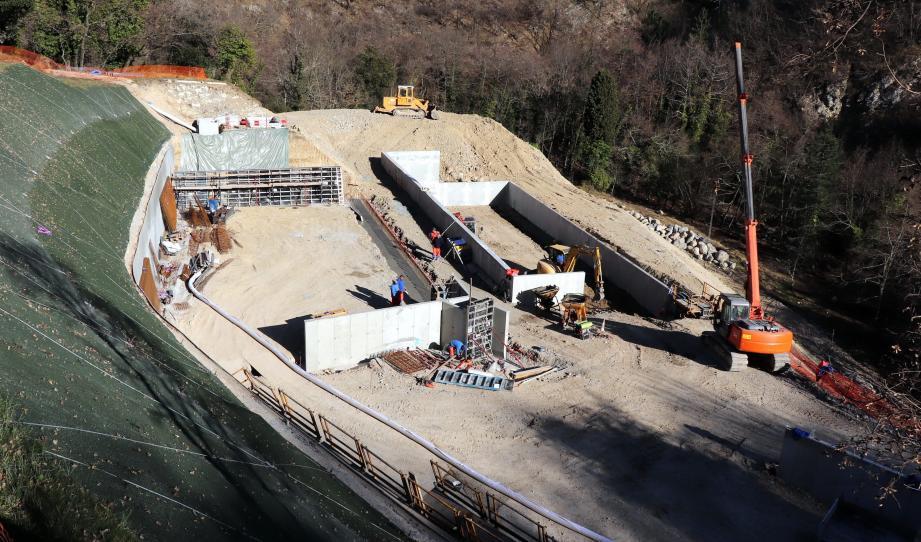 Les travaux de génie civil de la nouvelle station d'épuration écologique sont bien avancés.