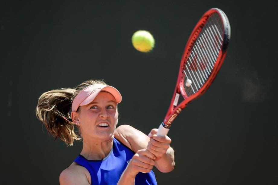 Fiona Ferro soulagée d'avoir remporté le tournoi de Lausanne.