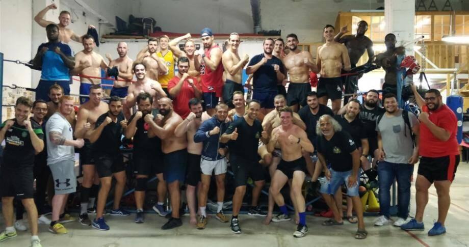 Superbe et originale collaboration entre le ROG et le Boxing Club de Grasse.
