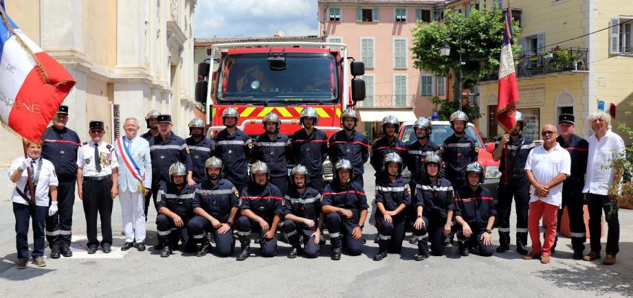 Les pompiers du centre de secours de la commune.