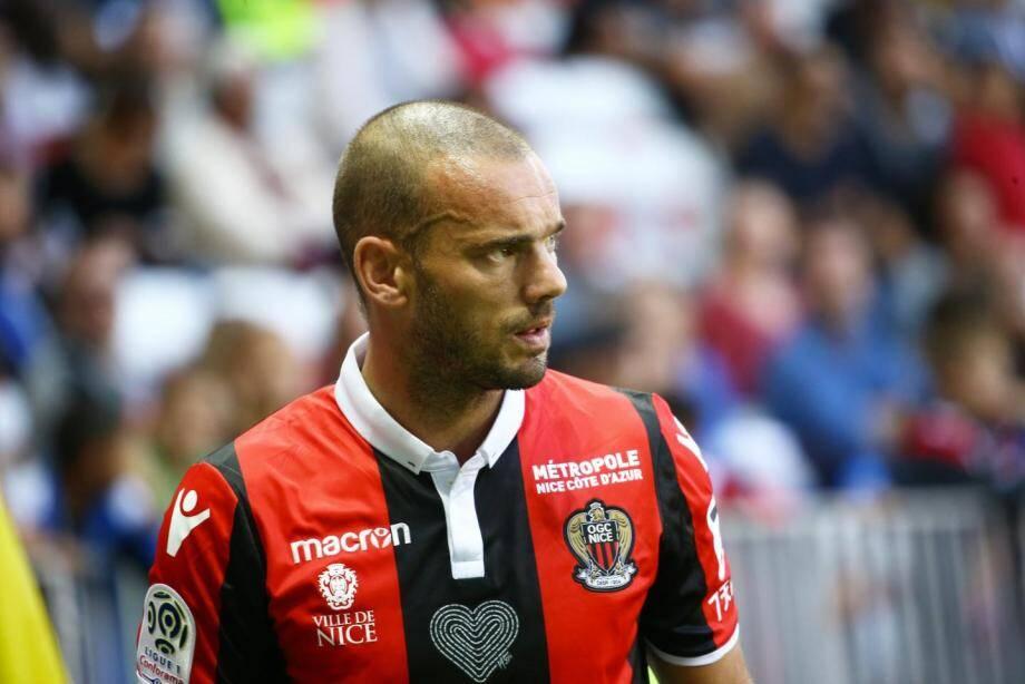 Wesley Sneijder avait raté son aventure niçoise.